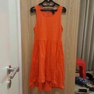 Orange H&M Dress #onlinesale