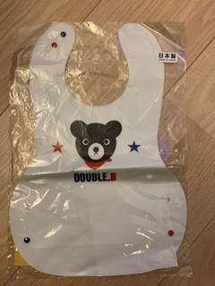 ⭐️New⭐️ Mikihouse Double B Plastic Bib 塑膠餵食巾