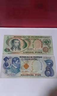 Old Pilipinas Piso notes.