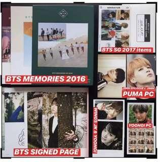 BTS OFFICIAL ITEMS