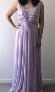 David's Bridal Convertible Mesh Dress