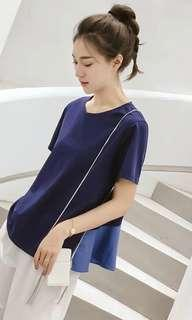 Blue top with frills