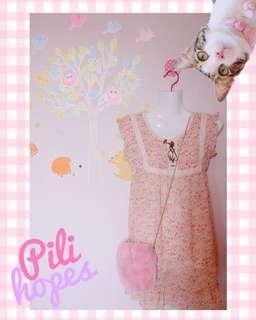 DRESS BUNGA PINK FLOWER DRESS