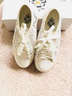 White Lace Shoes
