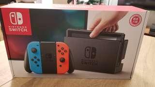 Nintendo Switch 紅藍 12月27入手 有單有盒齊配件