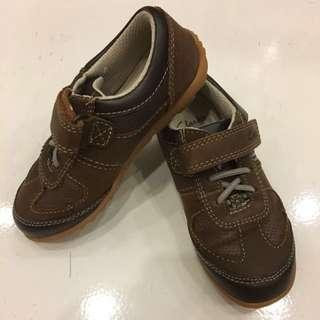 Brand New Original Clarks Boy's Shoe Model: Balmy Time Brown Combi Leather