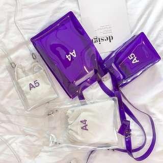 A4 / A5 Transparent Shoulder Bag