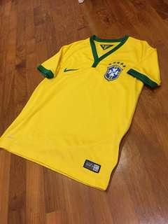 Original Nike Brazil Home Jersey - Boys Size S