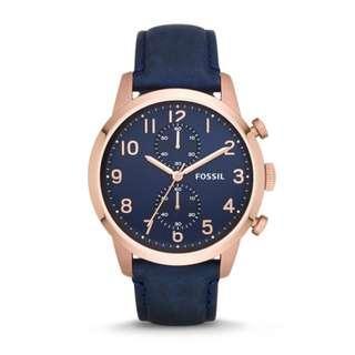 🚚 Fossil blue minimalist watch