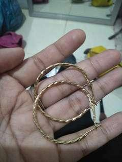 Anting gold bulat