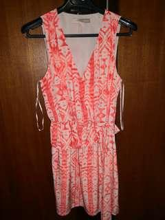 F21 Orange Aztec Dress