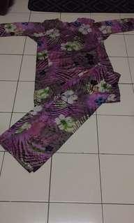 Baju Kurung saiz XL ukuran bahu 17.5inch