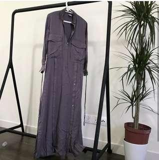 Alia Bastaman Tie Shirt Dress