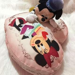 MICKEY & MINNIE MOUSE STUFFED TOY/PILLOW