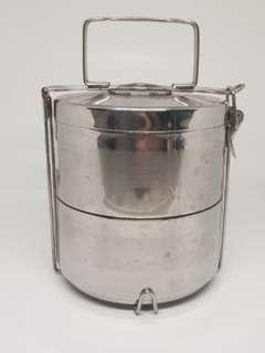 Stainless steel two-layer food carrier