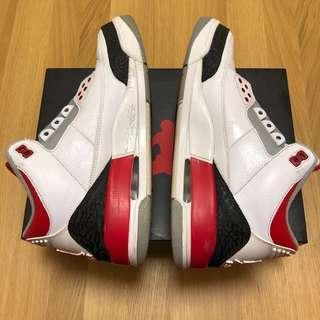 Air Jordan 3 Fire Red (US9)