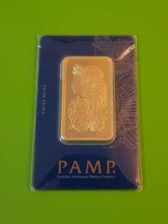 🚚 BN Sealed Swiss PAMP SUISSE 50g 999.9 Gold Bar