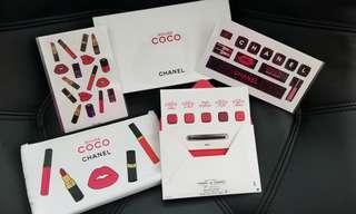 Chanel 5色唇彩,化妝袋,keyboard 貼紙