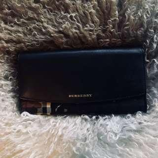 Burberry honey/black porter camouflage continental wallet