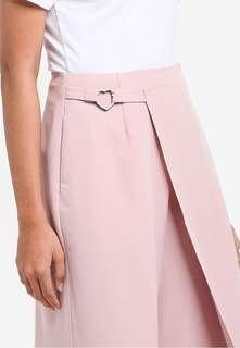 something borrowed overlay wrap heart culottes