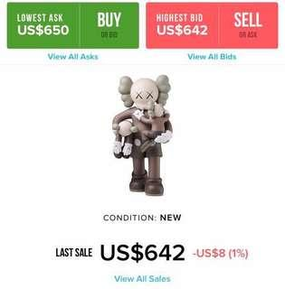 c35499e825ba56 Want to buy   Kaws Clean Slate (Brown only)