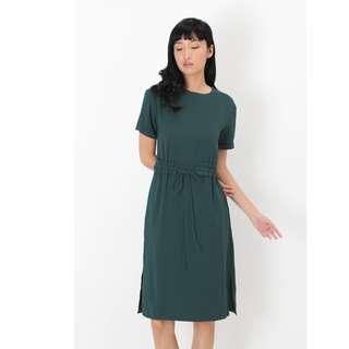 🚚 BN AforArcade Aime Frill Waist Dress in Forest