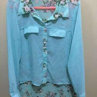 Mint Floral Top @50php