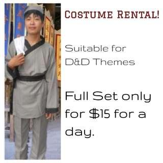 - COSTUME RENTAL - Old Style Chinese Waiter