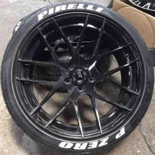 Tyres Lettering P Zero Pirelli Reflective