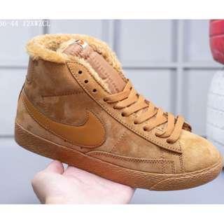 Nike Blazer Mid Suede加毛版 高幫開拓者 冬季保暖系列 配送加毛鞋墊卡其 36-44