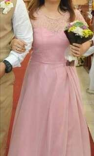Blush Pink Bridesmaid Gown For Sale/ For Rent