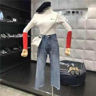 🚚 假口袋牛仔褲
