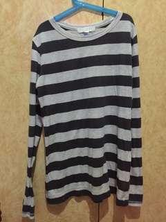 Forever 21 Stripes Long Sleeves Top
