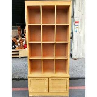 木製多格收納櫃/收納架/書櫃/置物櫃/展示櫃/木櫃/可調整高度置物櫃