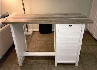 White Kitchen Island Oak Top ( GREAT IKEA STENSTORP ALTERNATIVE)