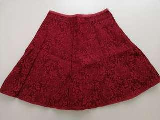 Red Lace Pant Dress