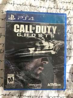 PS4 call of duty ghosts game