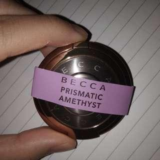 BECCA highlighter in prismatic amethyst #BEAUTY50