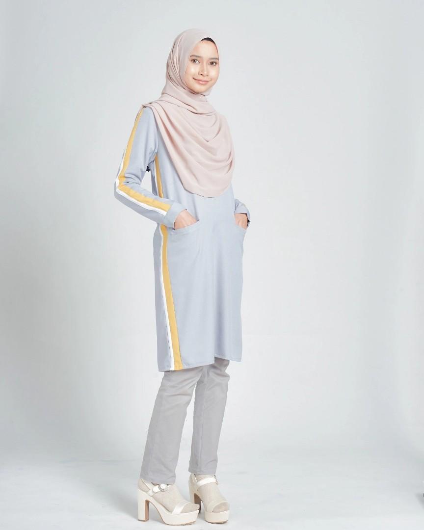 fd6ba30f058 ANDREA TOP baju peplum dress blouse kurta kurti labuh, Women's Fashion,  Muslimah Fashion on Carousell