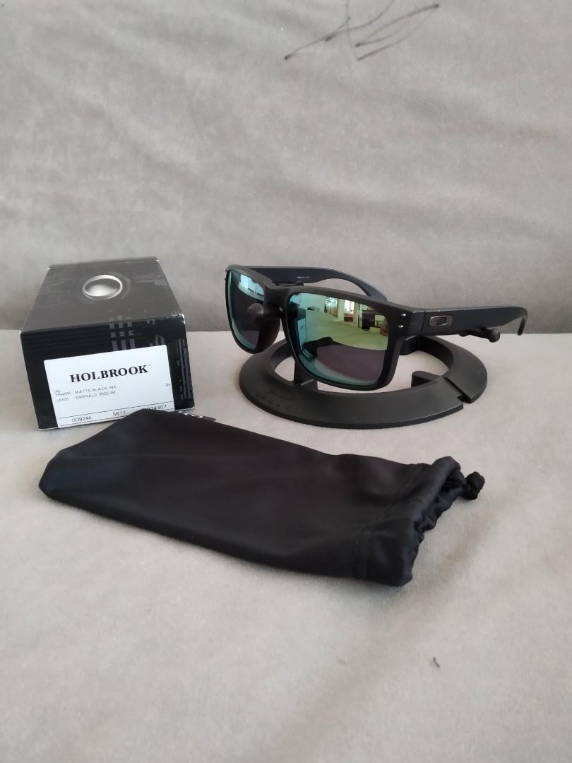 07e46023b03 Asian fit holbrook matte black frame emerald iridium lens oo9244-07 ...