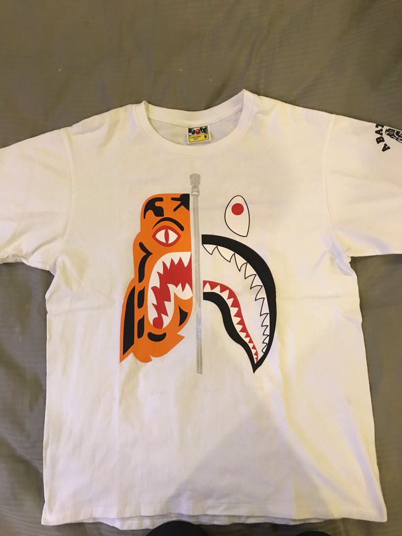 0d58bf92 Bape Tiger Shark Tee, Men's Fashion, Clothes, Tops on Carousell