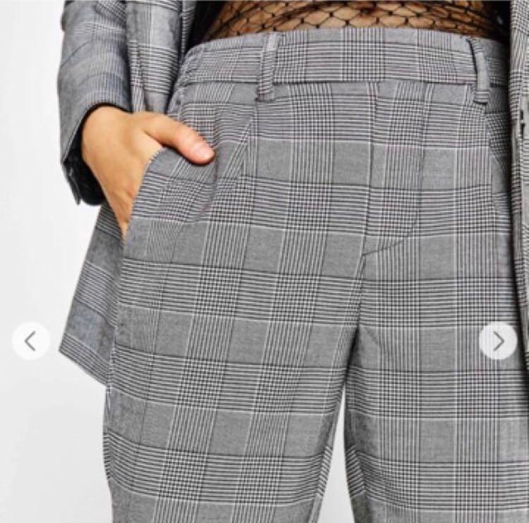d55db1f5c50 Bershka houndstooth plaid checkered pants