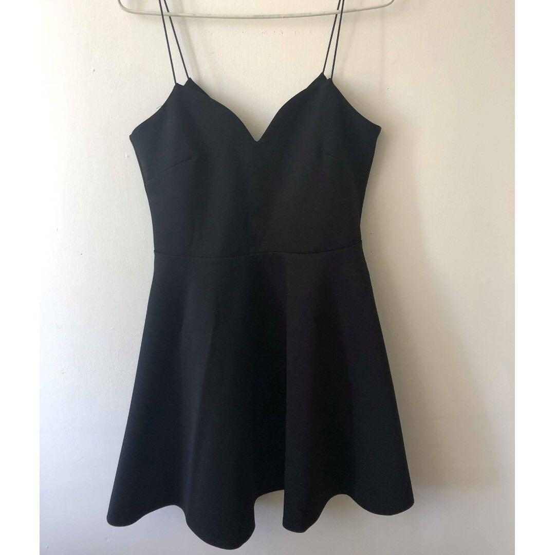 BNWT Black Mini Dress 12 Skater Style