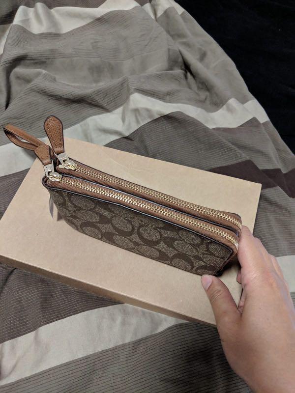 BNWT COACH Double Zip Wristlet Wallet