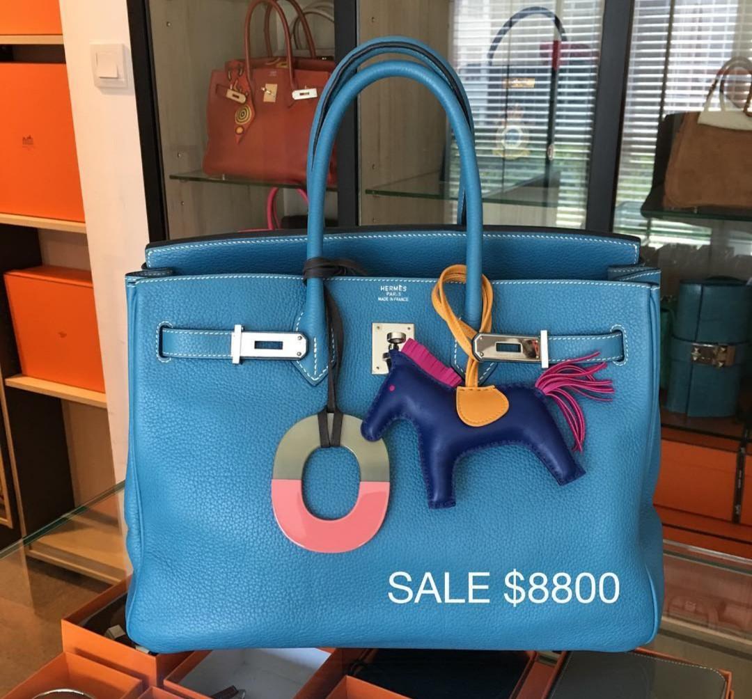 31376199f9 Hermes Birkin 35 Blue Jean