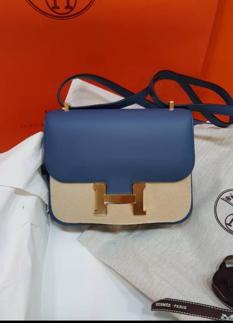 Hermes Constance 18 Blue Agate Swift GHW 33161a8155a99
