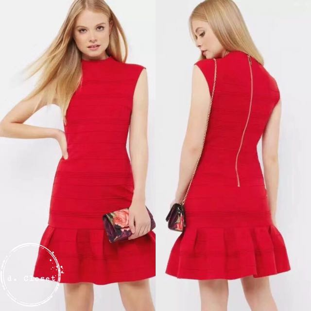 456980086b5f1 instock CNY special  Ted Baker red dress