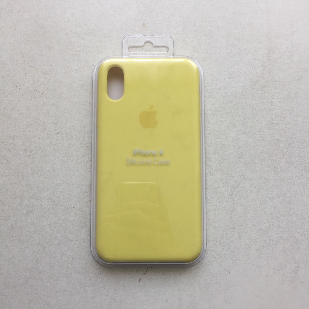 buy online d20f2 041c7 iPhone X Silicone Case Lemonade