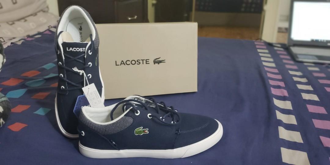 New - unworn - Lacoste BayLiss 318  Canvas Sneakers, Men's Size 8.5, Navy/White