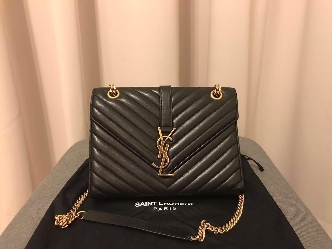 796d78a983be Last Price YSL Saint Laurent Envelope Medium Bag Sling Bag Cross Body Bag
